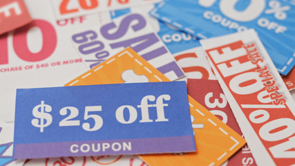 Group of Shopping coupon