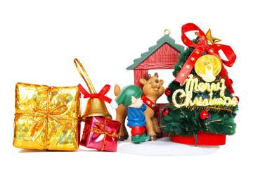 ギフトとクリスマスツリー