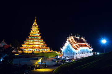 Wall Mural - Wat Huay Pla Kang, Chinese temple in Chiang Rai Province, Thailand.
