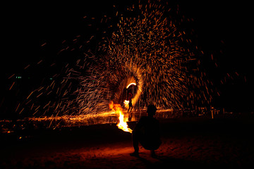 Spin the fire.