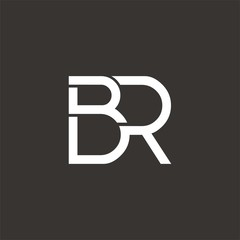 BR logo letter design template vector