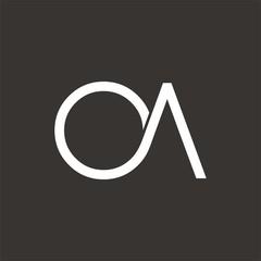 OA logo letter design template vector
