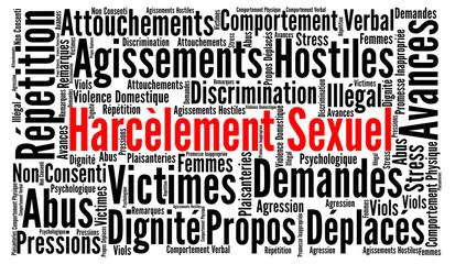 Harcèlement sexuel nuage de mots