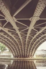 Picture under a metal bridge in namur belgium