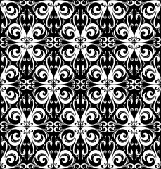 Black swan tropical bird seamless pattern. Black and white. Vector illustration flat style design for poster, greeting card and wedding party invitation, flyer and other advertising