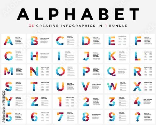 vector alphabet infographic presentation slide template business