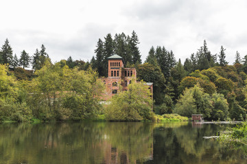 Abandoned Building Near Lake