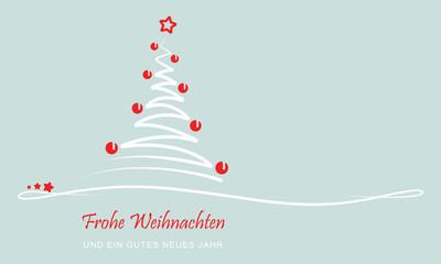"""Weihnachten - Grußkarte """"Abstrakter Weihnachtsbaum"""" (Grün)"""