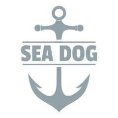 Pirate anchor logo, simple gray style