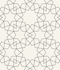 arabic geometric abstract deco art pattern