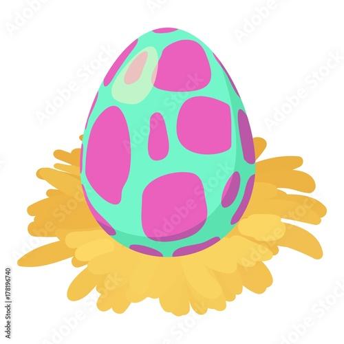 Dinosaur egg icon, isometric style