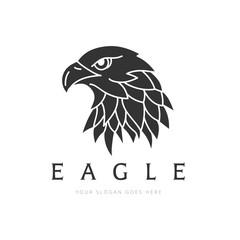 Eagle Logo, Bird logo set, Falcon logo, Hawk logo, Vector logo template.