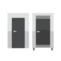 Doors of fitting room