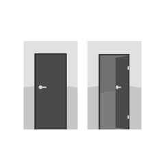 Vector doors - opened and closed