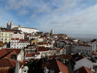 Postcards from Portugal: Lisbon - Alfama view from Elevador Santa Justa