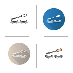 Eye mascara icon
