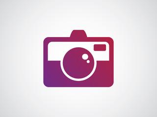 vibrant red purple simple camera logo icon