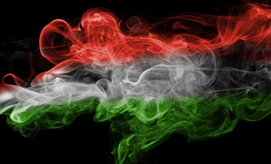 Hungary flag smoke