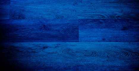 blue wood background. abstract dark blue color background. old wood