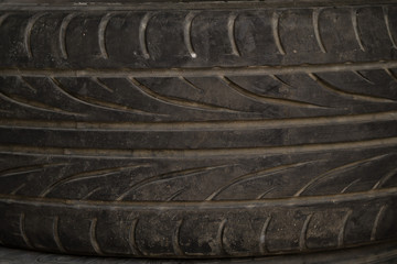 dirty old wheel. texture of old tire