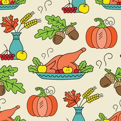 Seamless Thanksgiving day pattern.