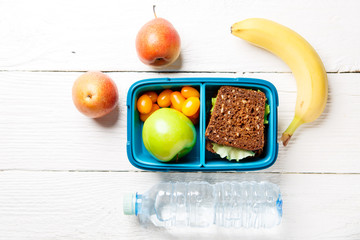 Image of sporting healthy snack in lunchbox
