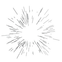 Sun burst, star burst sunshine. Radiating from the center of thin beams, lines. Design element for logo, signs. Dynamic style.