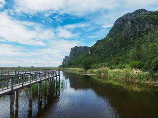 Mountain reflection, Khao Sam Roi Yot, Prachuap Khiri Khan, Thailand.