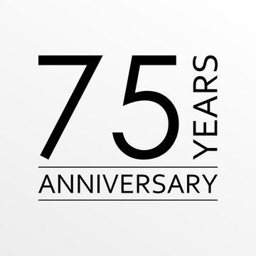 75 years anniversary icon. Anniversary decoration template. Vector illustration.