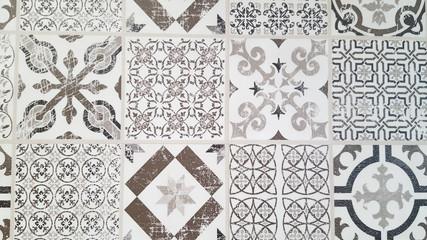 Vintage tiles intricate details for a decorative look.  Ceramic paint floor, ornament Collection...