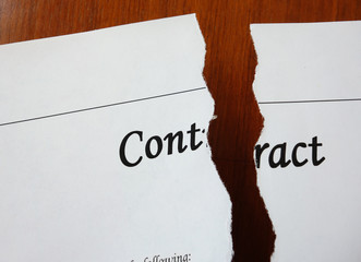 Contract torn in two