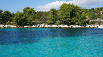 natural coast on trogir island in croatia