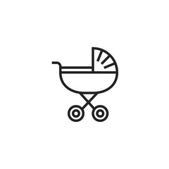 Baby Buggy Icon Vector Isolated