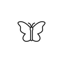 Butterfly Icon Vector Isolated