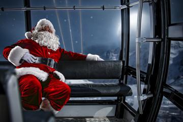 santa claus and winter night