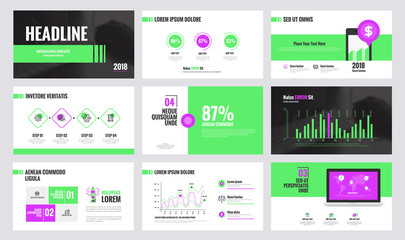 Infographics slide template design 3