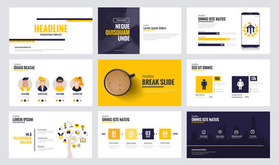 Infographics slide template design 6