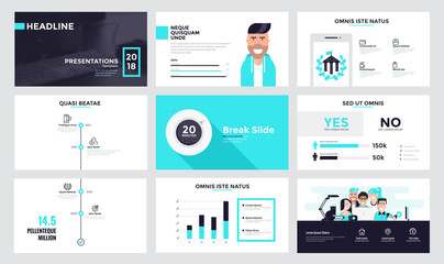Infographics slide template design 7