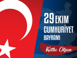 29th October National Republic Day of Turkey, Celebration Graphic Design