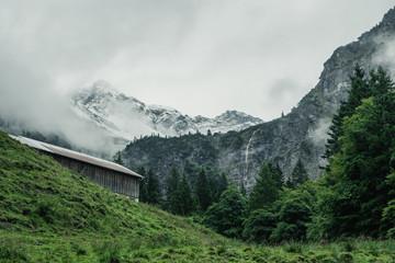 Nebel und Wolken in den Allgäuer Alpen