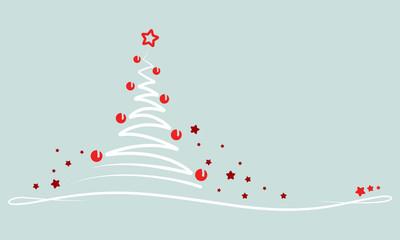 """Weihnachten - """"Abstrakter Weihnachtsbaum"""" (in Grün)"""