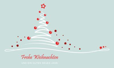 """Weihnachten - """"Abstrakter Weihnachtsbaum"""" (Grün)"""