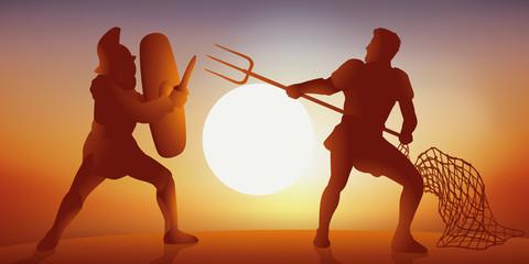 gladiateur - romain - historique -  arène - combat -antique - cirque - histoire - épée
