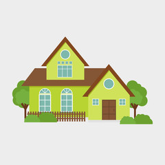 House Flat Vector