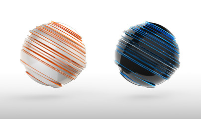 abstract 3d sphere icon, sphere futuristic for design element with clipping path.