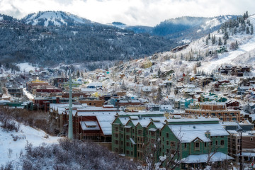 Park City in the Snow