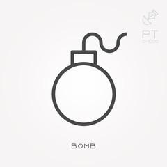 Line icon bomb