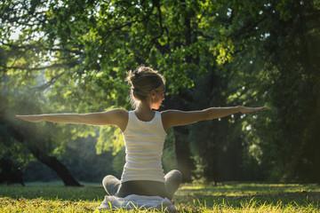 Yoga in outdoor scenery