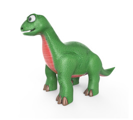 A cute dinosaur. 3D image. Isolated on white