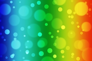 abstract blurred of colorful light bokeh background, christmas holiday background, wallpaper, festival and holiday concept